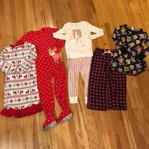 Other - Lot of 5 pajamas for girls sz 6